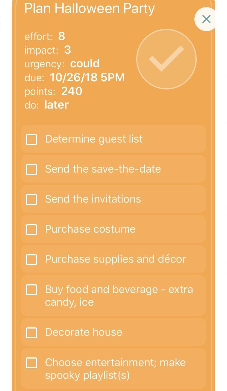 checklist feature focus - thrivner the arena app checklists
